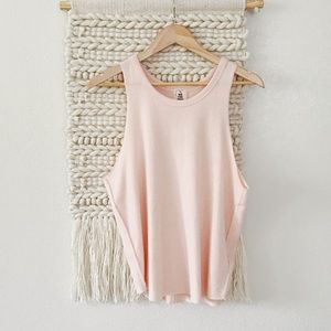 Free People Coziest Tank in Pink
